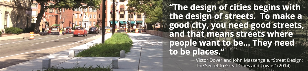 Image of Hartford Street with quote: