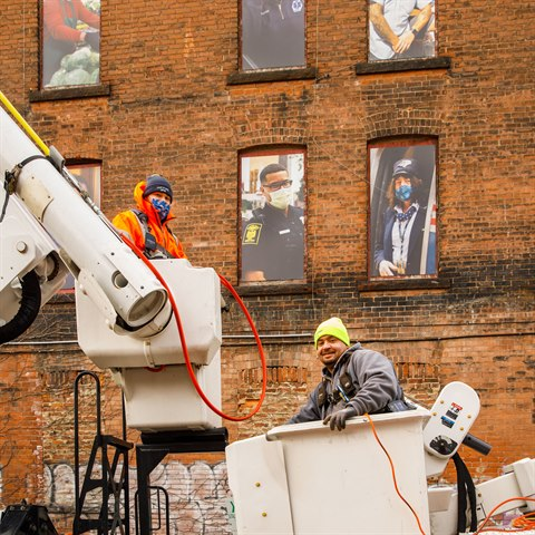 Hartford Unveils Photo Installation Honoring Frontline Workers